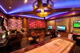 Gaming Room Decor And Entertainment Rooms Featuring Witty Design Ideas
