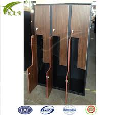 armadietti spogliatoio legno di legno a forma di z aspetto scuola armadietto spogliatoi
