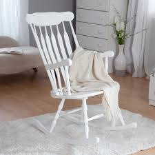 Rocking Chair Baby Nursery Furniture White Rocking Chair For Baby Room Baby Feeding Glider
