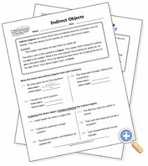 indirect objects worksheetworks com