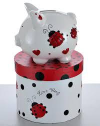 engraved piggy bank engraved piggy banks mini ladybug piggy bank personalized piggy