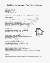 building maintenance technician resume resume for study