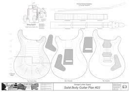 custom plans solid electric guitar plans 24 electronic version