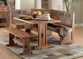 dining room solid wood dining table and bench wooden table with