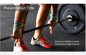 weight training powerpoint template 5007 free powerpoint