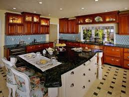 l shaped kitchen islands with seating modern l shaped kitchen with granite island top and seating