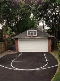 Half Court Basketball Dimensions For A Backyard by Photos Of Basketbalball Courts Made Of Asphalt Concrete Pavement