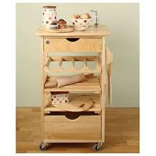 wooden kitchen trolley cart storage worktop wood wine rack wheels