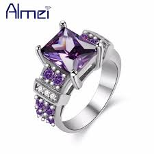 crystal diamond rings images Almei purple wedding rings for women crystal engagement ring with jpg