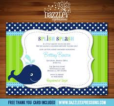 whale baby shower invitations printable blue and green preppy whale baby shower invitation