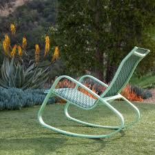 Aluminum Outdoor Chairs Royal Garden Eero Aluminum Outdoor Sling Rocking Chair Green