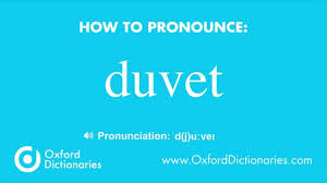 Duvet Dictionary How To Pronounce Duvet Youtube