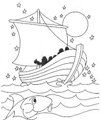 Galilee Boat Coloring Pages Sea Crossed Jesus
