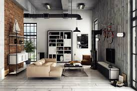 black and white apartment interior design for young couple wood