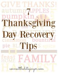 connect the dots becky allen 7 thanksgiving day recovery tips