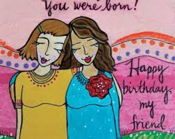 birthday friend etsy