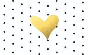 Cute Black And White Wallpapers by Freebie Desktop Or Laptop Wallpaper Black U0026 White Dots Gold Heart