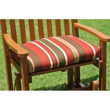Outdoor Single Glider Chair 22 U0027 U0027 X 17 U0027 U0027 Single Glider Cushion In Solid Or Print Outdoor Cover