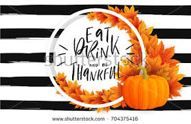 autumn thanksgiving sale greeting flyer template stock vector