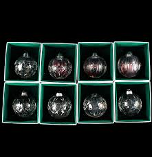 eight czech lead glass christmas ornaments ebth