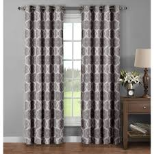 Extra Wide Thermal Curtains Window Elements Sheer Boho Embroidered Sheer Faux Linen 96 In L