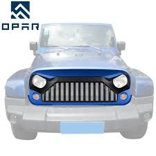 hydro blue jeep hydro blue paint front topfire grille grill hood for jeep wrangler
