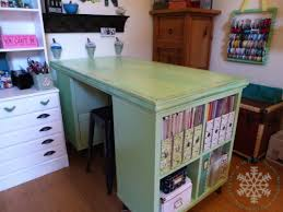 diy craft table ikea minty fresh makeover noelle mcadams of paper ice part 1 craft