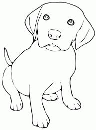 Coloriage bébé chien  1001 Animaux