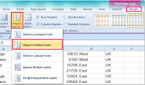 table tools design tab excel banded rows customize zebra lines quickly using table styles