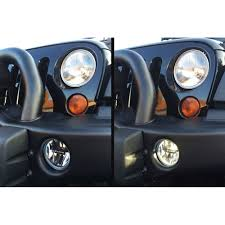Led Fog Light Kc Hilites 0497 Jeep Wrangler Jk Fog Lights Led Gravity Clear 2010 18
