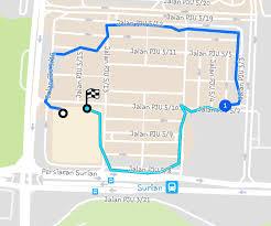 Map My Walk Route Petaling Jaya U2013 Panda Shop
