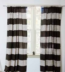 96 Inch Curtains Blackout by Erica Striped Block Print Curtains Cotton Curtains Decorating