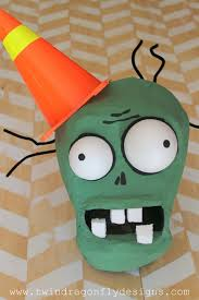 plants zombies costume cone head zombie dragonfly designs