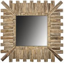 square wooden slatted wall mirror mulberry moon