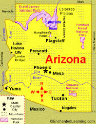 Arizona State Map With Cities by Arizona Watch Us Play Games