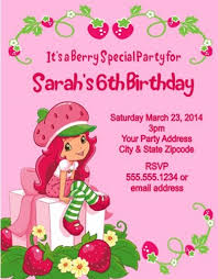 free printable strawberry shortcake personalized birthday