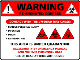 halloween signage signs of the zombie apocalypse zombie outbreak pinterest
