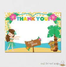 thank you card hawaiian thank you cards free printable hawaiian