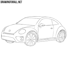 volkswagen drawing how to draw a volkswagen beetle drawingforall net