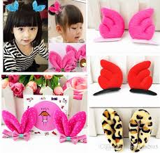 cheap hair accessories 2015 children hair accessories korean style rabbit ears dots