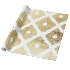 chic wrapping paper modern chic faux gold white marble wrapping paper zazzle