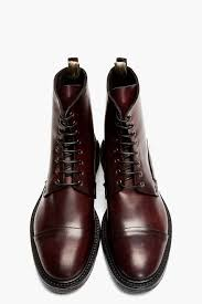 officine creative burgundy leather bowling boots man shoes