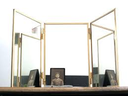 Gold Vanity Mirror Tri Fold Mirror U2013 Designlee Me