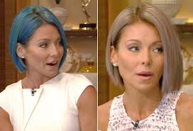 kelly ripa hair style kelly ripa debuts another bold hair color instyle com