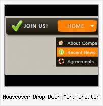 mouseover drop down menu creator template