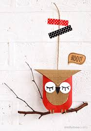 mollymoocrafts toilet roll crafts for kids toilet roll owl hoot