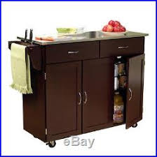 Kitchen Island Cart With Stainless Steel Top Kitchen Island Cart Stainless Steel Top Portable Counter Espresso