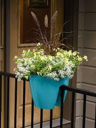 modern balcony planters viva self watering saddle railing planter self watering