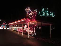 christmas lights train ride lakemont park lights on the lake altoona pa blair county