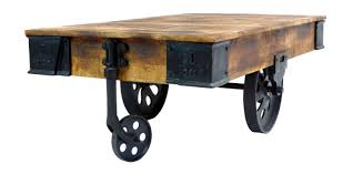 industrial cart coffee table dipinto